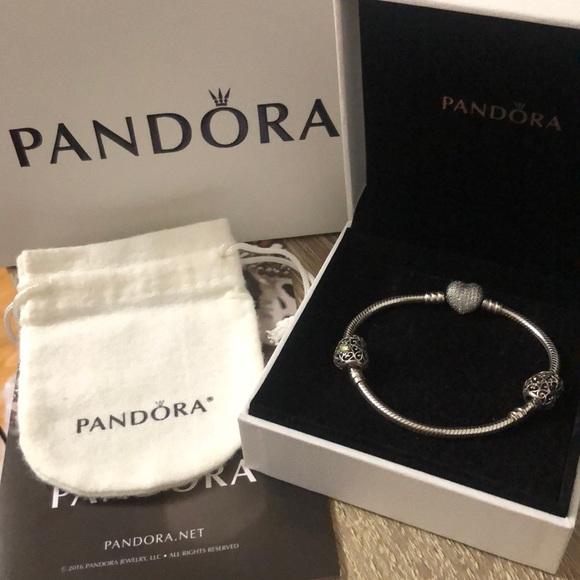 Pandora Bracelet with 2 charms